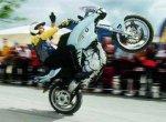 Мотоциклист Honda резко тронулся...