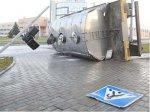 В Гродно опрокинулся 5-ти тонный прицеп с молоком