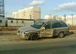 На Матусевича Opel вылетел на встречку
