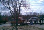 Маршрутка сбила столб в Чижовке