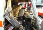 В Гомеле столкнулись скорая помощь и грузовик Мерседес