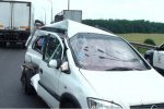 Пьяный водитель Opel Zafira задел две машины на МКАД
