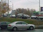 На Западном мосту произошло столкновение Honda и Toyota