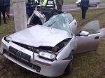 Mazda въехала в столб, из-за чего водитель скончался на месте