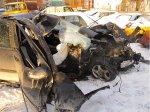На МКАД автомобиль Mercedes врезался в столб – погиб парень