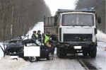 В Гродненском районе Ford вылетел навстречу грузовику