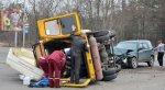 В Бресте перевернулась маршрутка – 6 человек травмировано