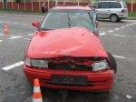 В Гомеле водитель легковушки не пропустил грузовик Mercedes