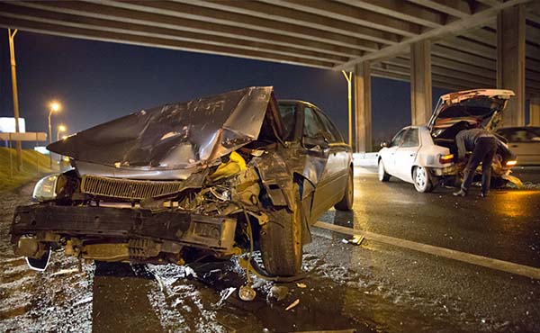 В воскресенье вечером на МКАД случилось сразу несколько аварий