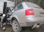 Возле Жлобина столкнулись Audi и МАЗ – два человека погибли