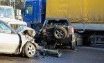 В столице на перекрестке произошло столкновение шести автомобилей