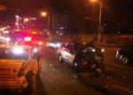 В Минске Lexus боком выехал на полосу встречного движения