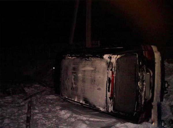 В Давид-Городке мужчина на Toyota Land Cruiser потерял управление и оказался в кювете