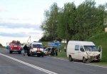 На М6 произошло серьезное ДТП с участием микроавтобуса и легковушки
