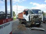 На просп. Дзержинского в столице столкнулись троллейбус и грузовик