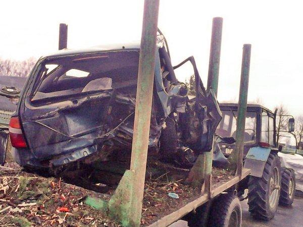Тракторист устроил аварию на трассе Минск – Гродно