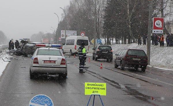 Авария на Минском шоссе в Могилеве – двое погибших