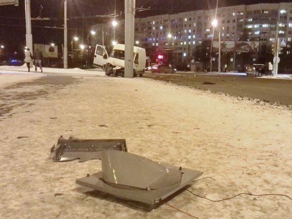 Жесткое ДТП на перекрестке улицы Голубева и проспекта Газеты Правда в Минске
