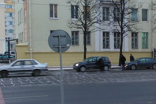 Типичное ДТП в Минске на улице Козлова