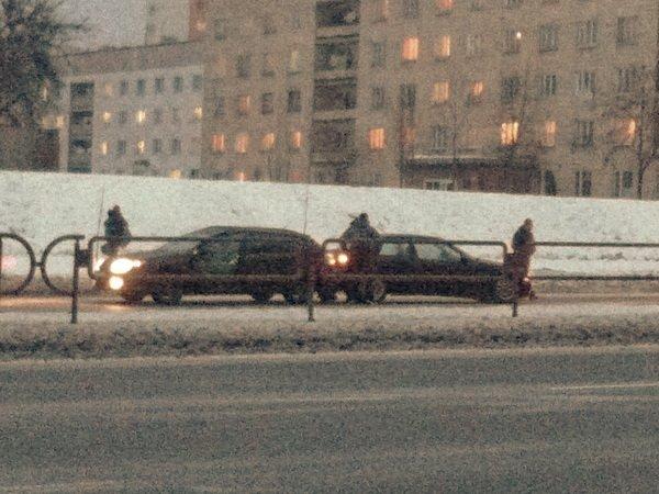 Два ДТП: переход на улице Денисовской в Минске