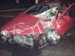 Ночью в Мозыре водитель разбил свой тюнингованный Nissan о фонарный столб