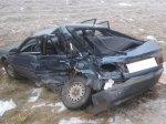 Сегодня на трассе Р23 в автомобиль Mazda 626 врезался грузовик