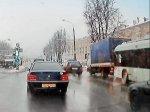В Минске троллейбус 16 маршрута врезался в МАЗ