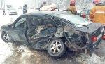 Столкновение Mazda и Mercedes со смертельным исходом на трассе Р23