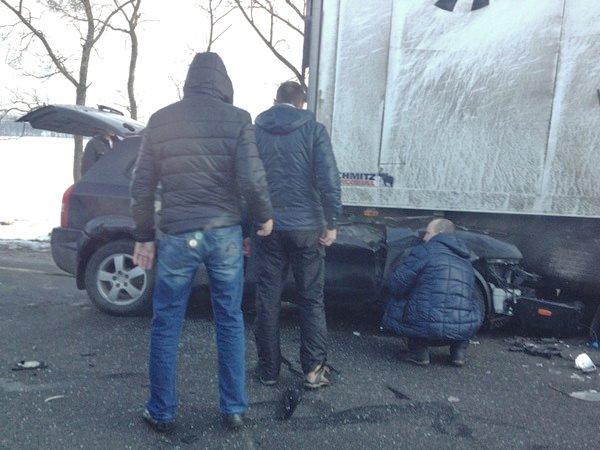 Столкновение Hyundai Tucson с фурой на трассе Минск – Дзержинск