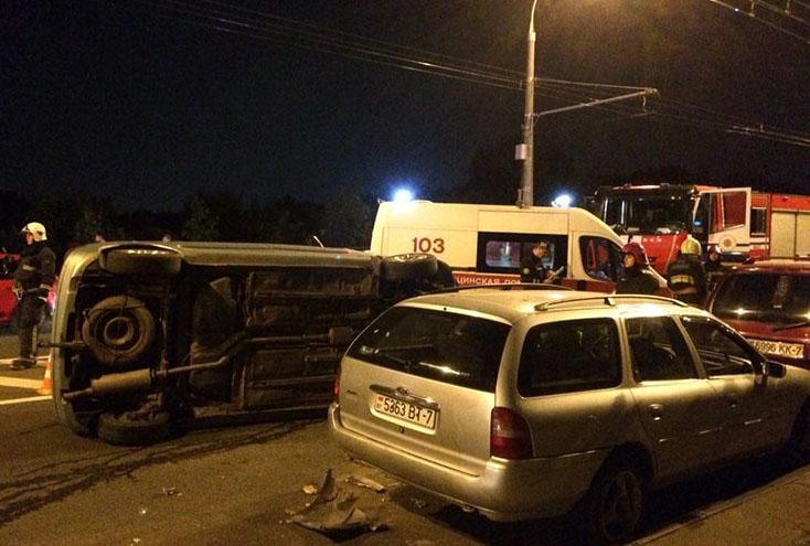 ДТП в Сухарево. Пьяный водитель повредил 3 авто