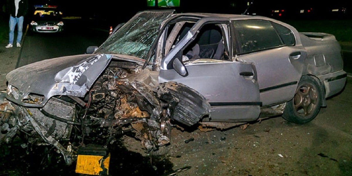 Видео: Гонки по Гродно закончились аварией, хотя инспекторам предложена другая версия происшествия