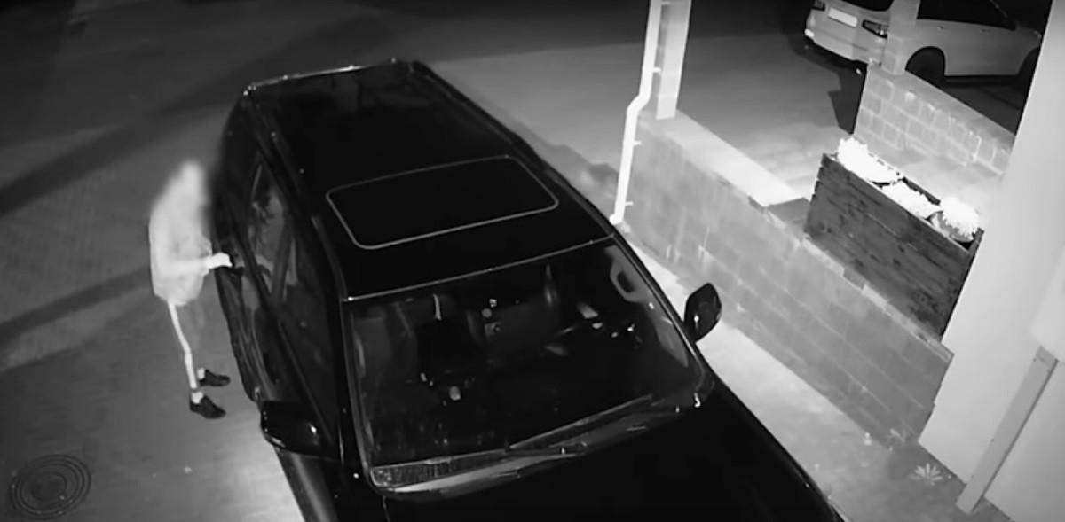 Видео: Дерзкий автовор задержан в Минском районе