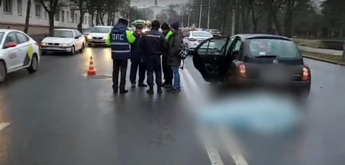 Видео: Смертельная авария на улице Сурганова в Минске