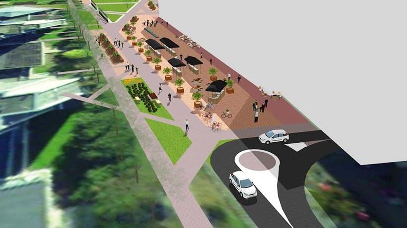 Улицу Кульман возле Комаровского рынка планируют сделать пешеходной