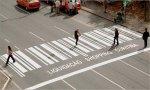Разноцветный пешеходный переход в Гомеле